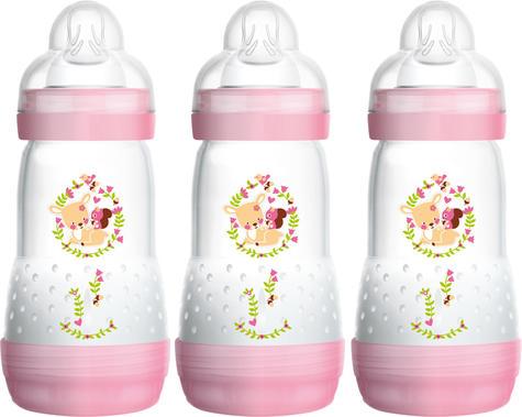 Mam Baby Formula Feeding Self Sterilising Anti-Colic Infant Bottle 260ml 3 Pack  Thumbnail 2