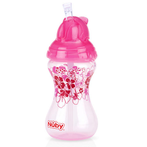 Nuby Designer Flip It Cup Baby Spill Proof with Silicon Spout Toddler Trainer Thumbnail 2