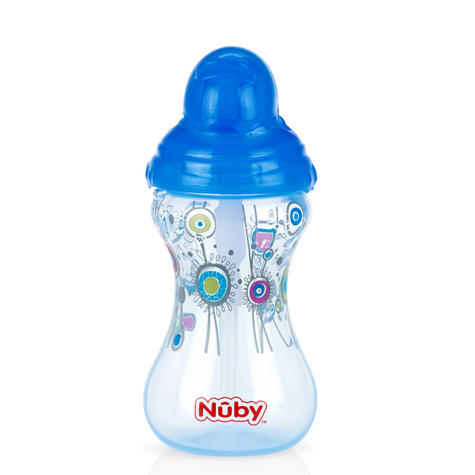Nuby Designer Flip It Cup Baby Spill Proof with Silicon Spout Toddler Trainer Thumbnail 3