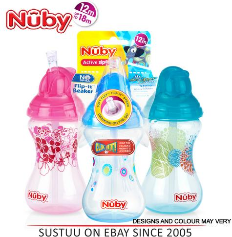 Nuby Designer Flip It Cup Baby Spill Proof with Silicon Spout Toddler Trainer Thumbnail 1