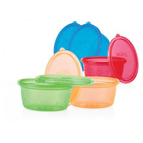 Nuby Stackable Bowls and Lids Baby Travel Spill Proof Food Storage Container 4PK Thumbnail 2