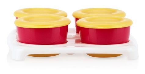 Nuby Garden Fresh Freezer Pots?Baby Food & Snack Storage with Lids Container?4m+ Thumbnail 3