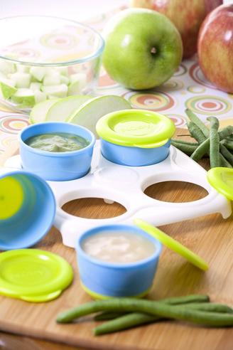 Nuby Garden Fresh Freezer Pots?Baby Food & Snack Storage with Lids Container?4m+ Thumbnail 6