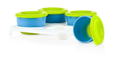 Nuby Garden Fresh Freezer Pots?Baby Food & Snack Storage with Lids Container?4m+ Thumbnail 2
