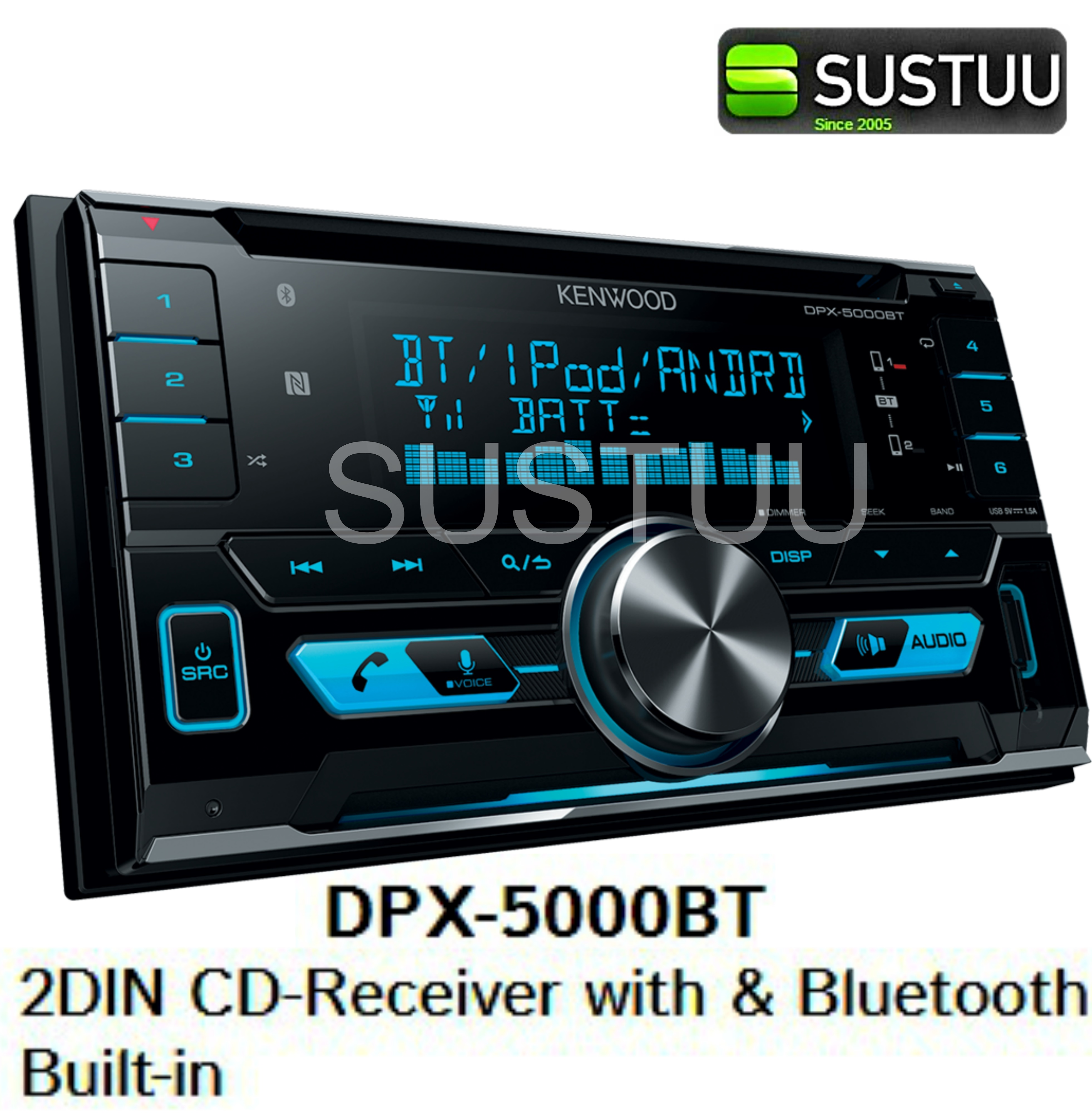 kenwood dpx 5000bt car stereo 2din mp3 cd usb aux bluetooth ipod iphone android sustuu. Black Bedroom Furniture Sets. Home Design Ideas