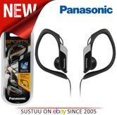 Panasonic Water Resistant Jogging Running Sports Clip Earphones Black RP-HS34