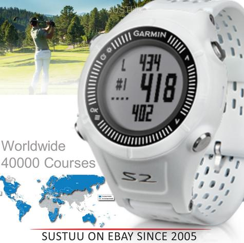 Garmin S1 Approach Golf GPS Rangefinder Watch Black 7400+ Preloaded Golf Courses Thumbnail 1