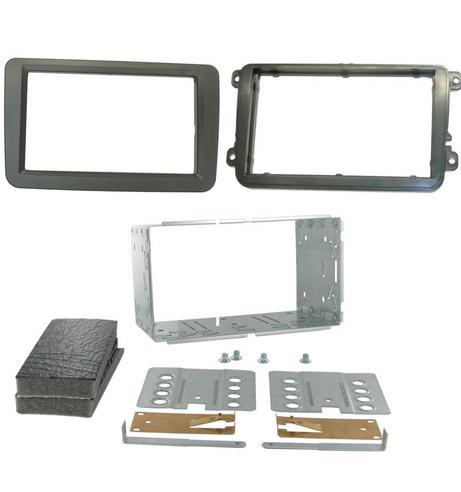 C2 23VW01 Car Stereo Double Din Fascia Plate Adaptor Volkswagen Passat/Golf/Polo Thumbnail 1