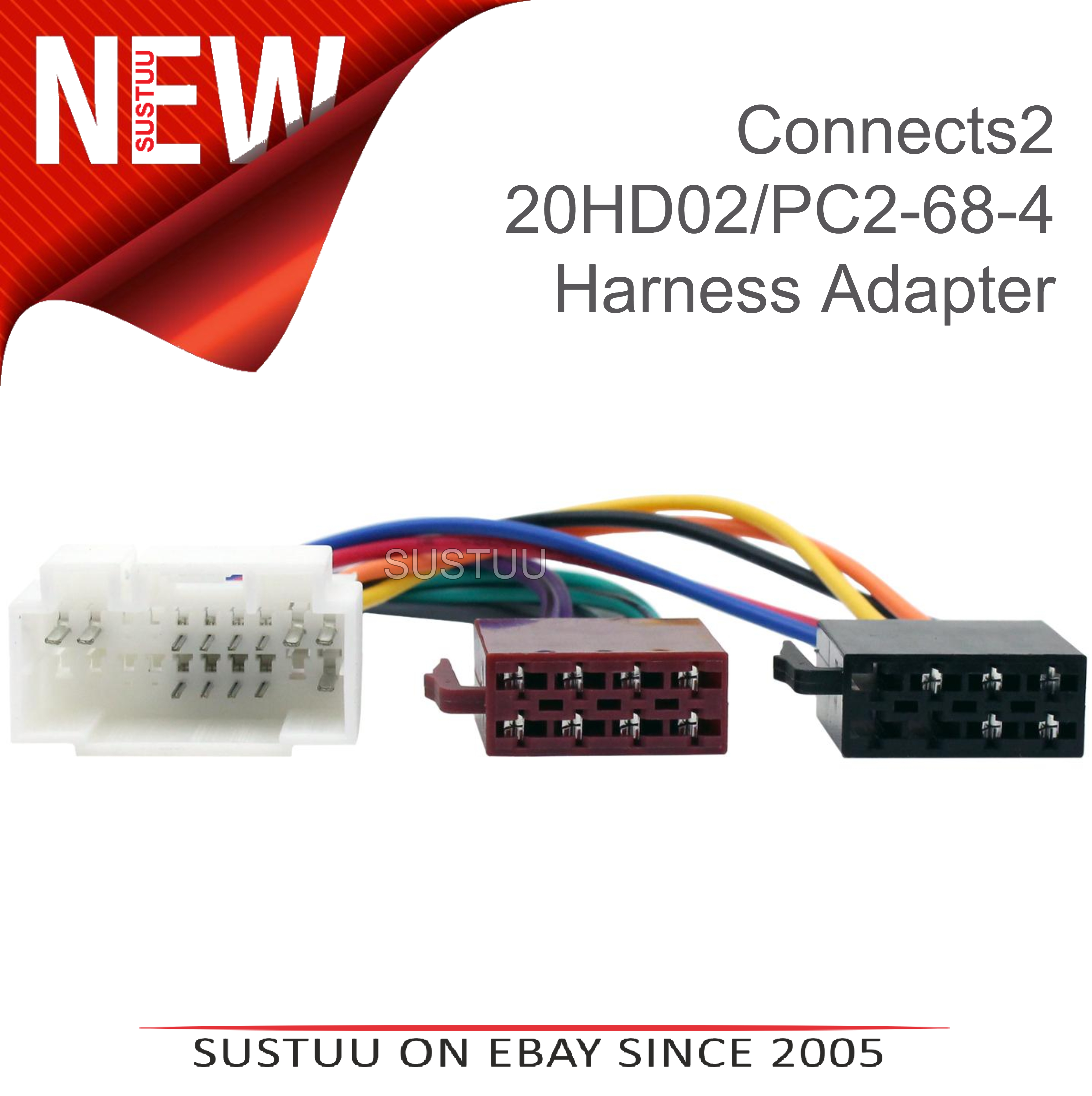 Connects2 20hd02 Car Stereo Wiring Fakra Harness Adaptoriso Radio Adapter Sentinel Connectorfor Honda