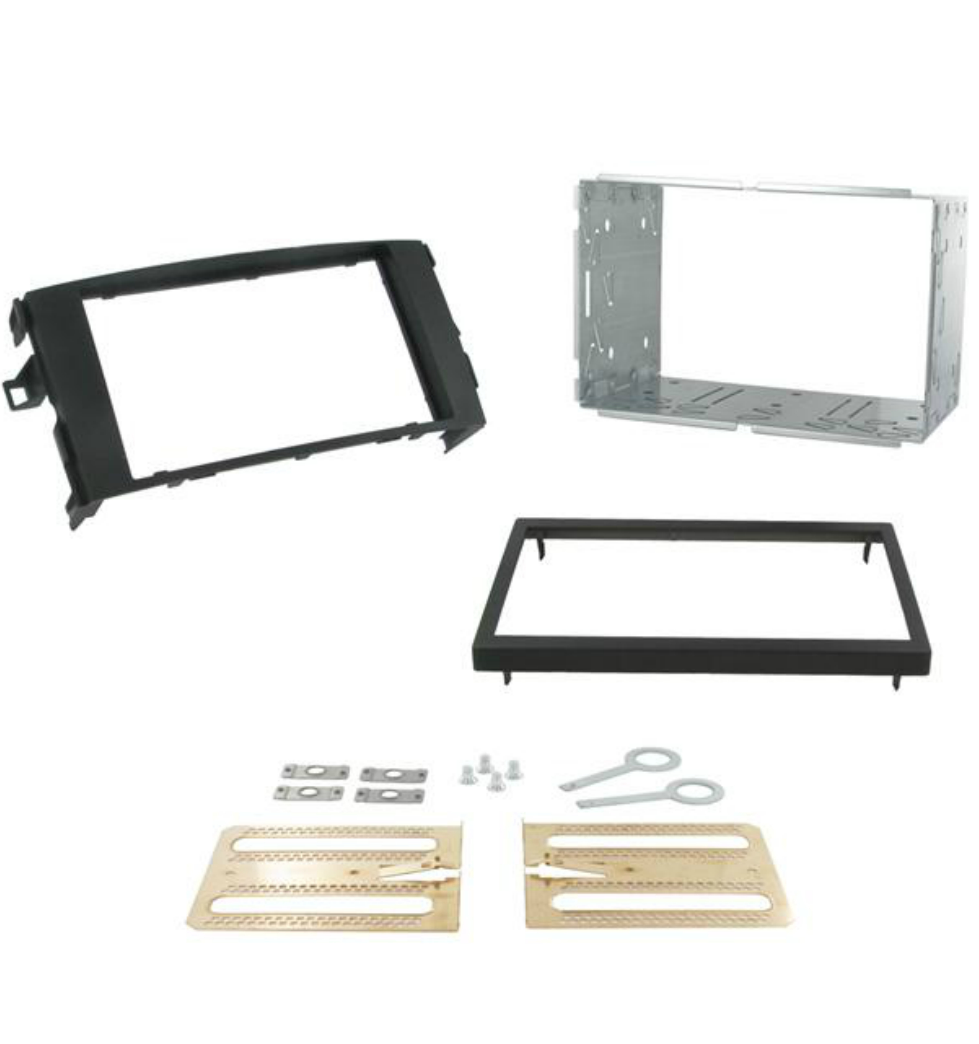 C2 Car Stereo Double Din Fascia Plate Adaptor For Toyota Auris 2007-2013