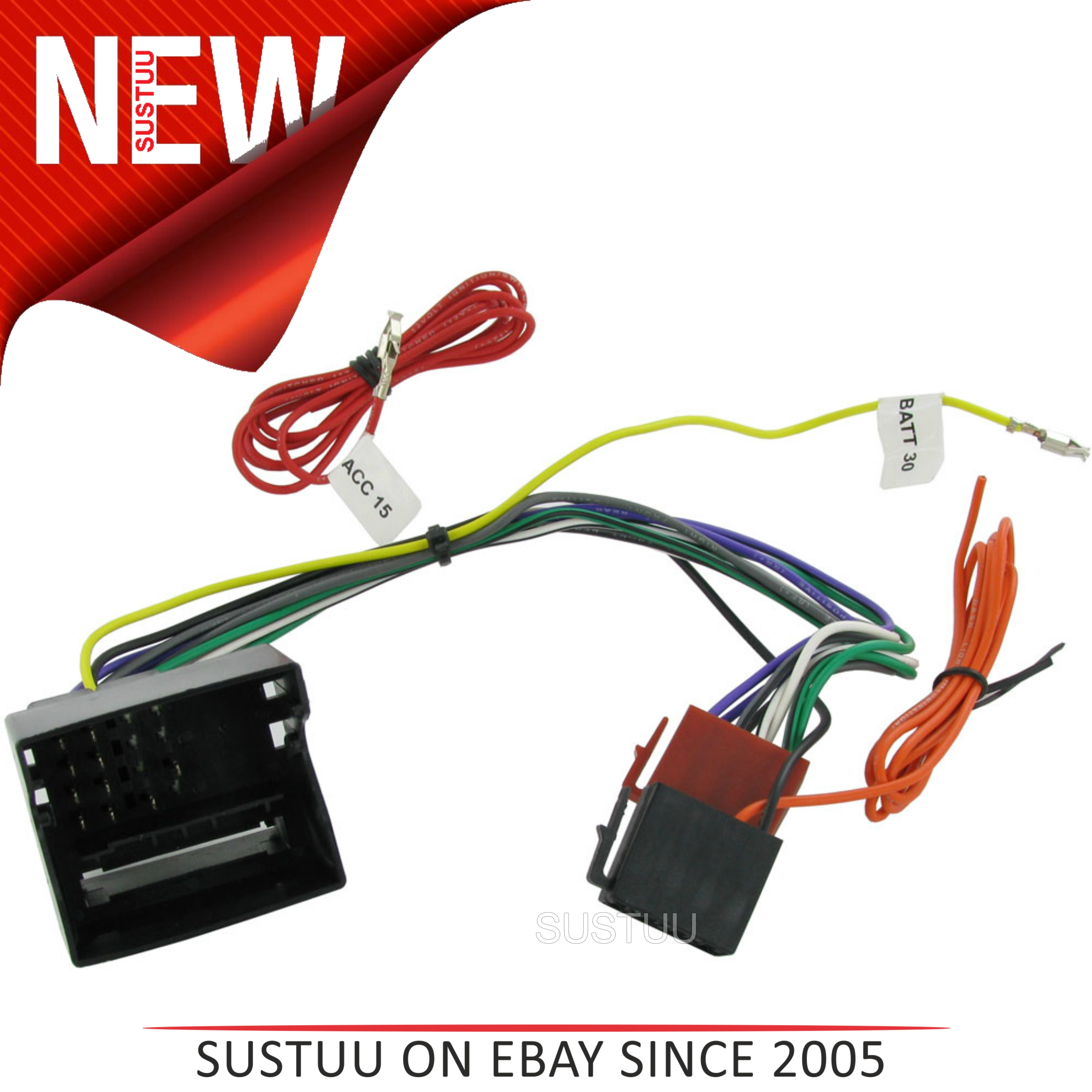 c2 20vw01 car stereo iso wiring fakra harness adaptor vw. Black Bedroom Furniture Sets. Home Design Ideas