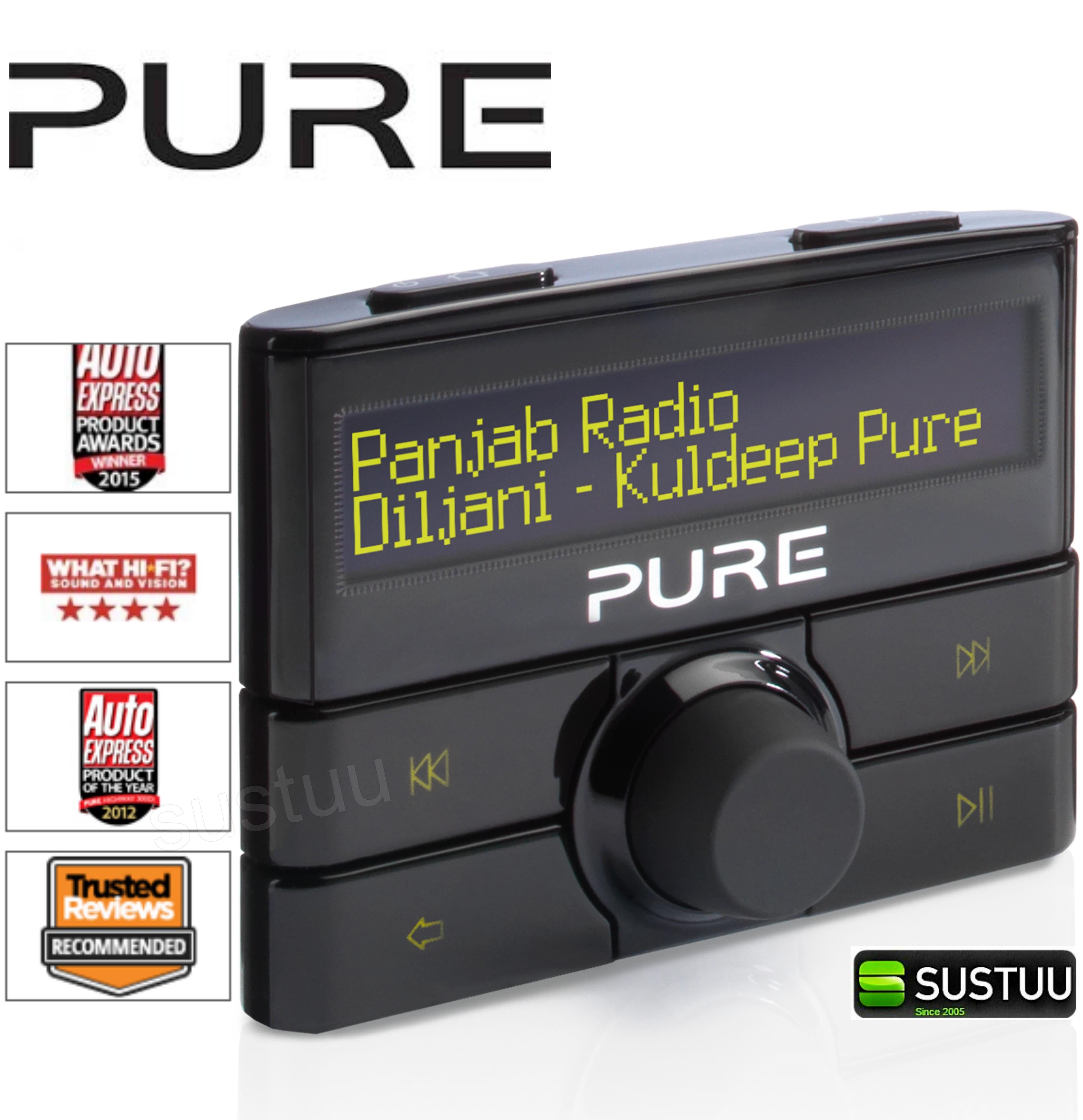 Pure Highway 300DI Add on DAB In Car Digital Radio | Aux | USB | Fits iPod-iPhone-iPad