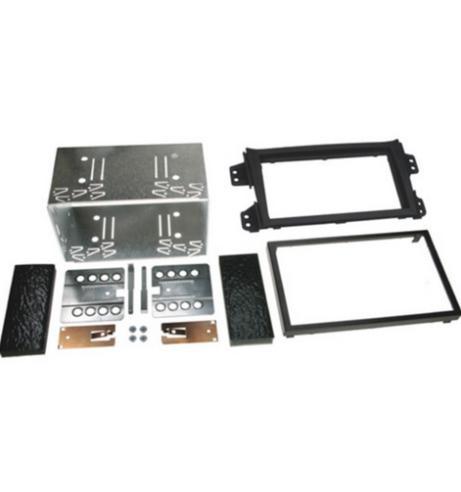 C2 23VX20 Car Stereo Double Din Fascia Plate Adaptor  Vauxhall Black Agila 2008> Thumbnail 1