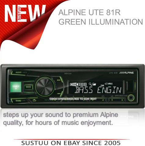 Alpine UTE 81R?In Car Stereo-Digital Media Receiver?1DIN?RDS?USB?Aux?Illuminatio Thumbnail 1