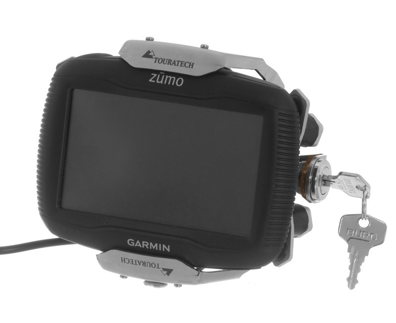 touratech high quality lockable mount for garmin zumo 340. Black Bedroom Furniture Sets. Home Design Ideas