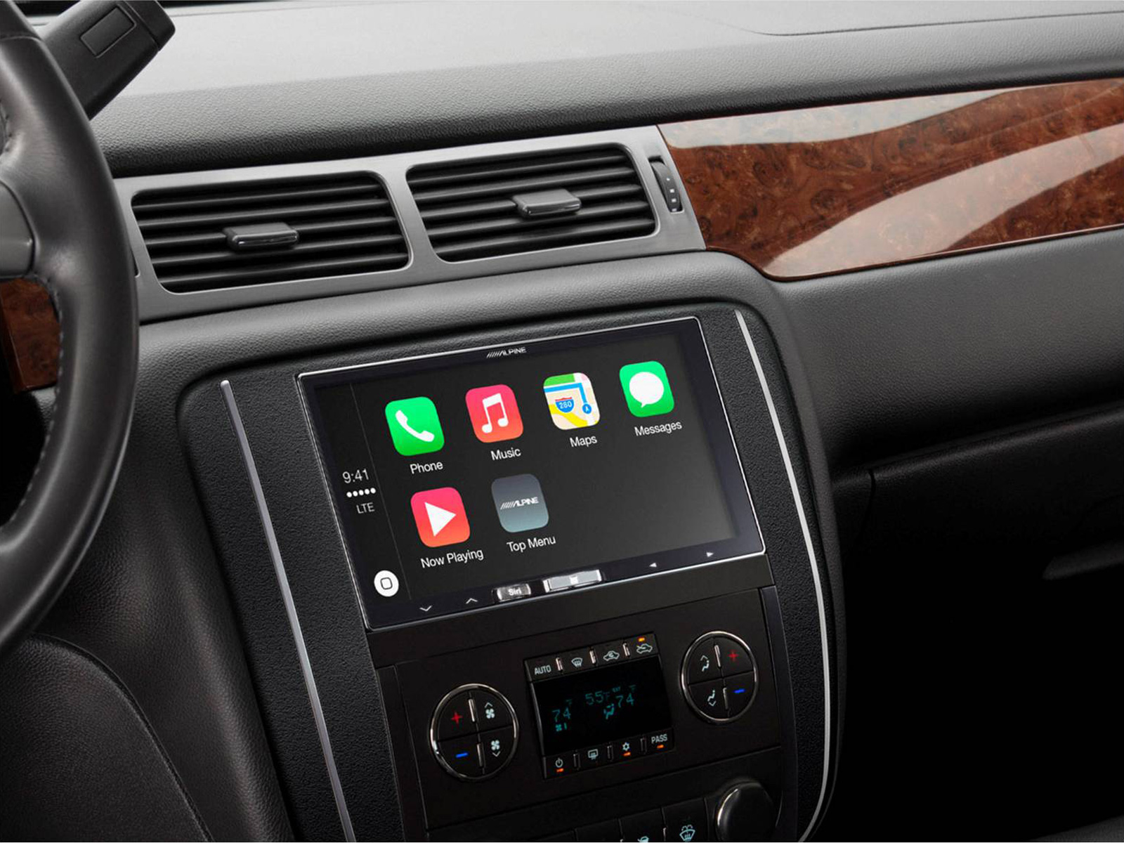 alpine 7 apple car play apple maps touchscreen fm usb aux. Black Bedroom Furniture Sets. Home Design Ideas