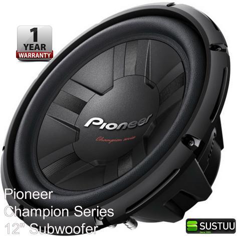 Pioneer TS-W311D4 30 cm 2?/8? enclosure-type dual voice coil-car subwoofers1400W Thumbnail 1