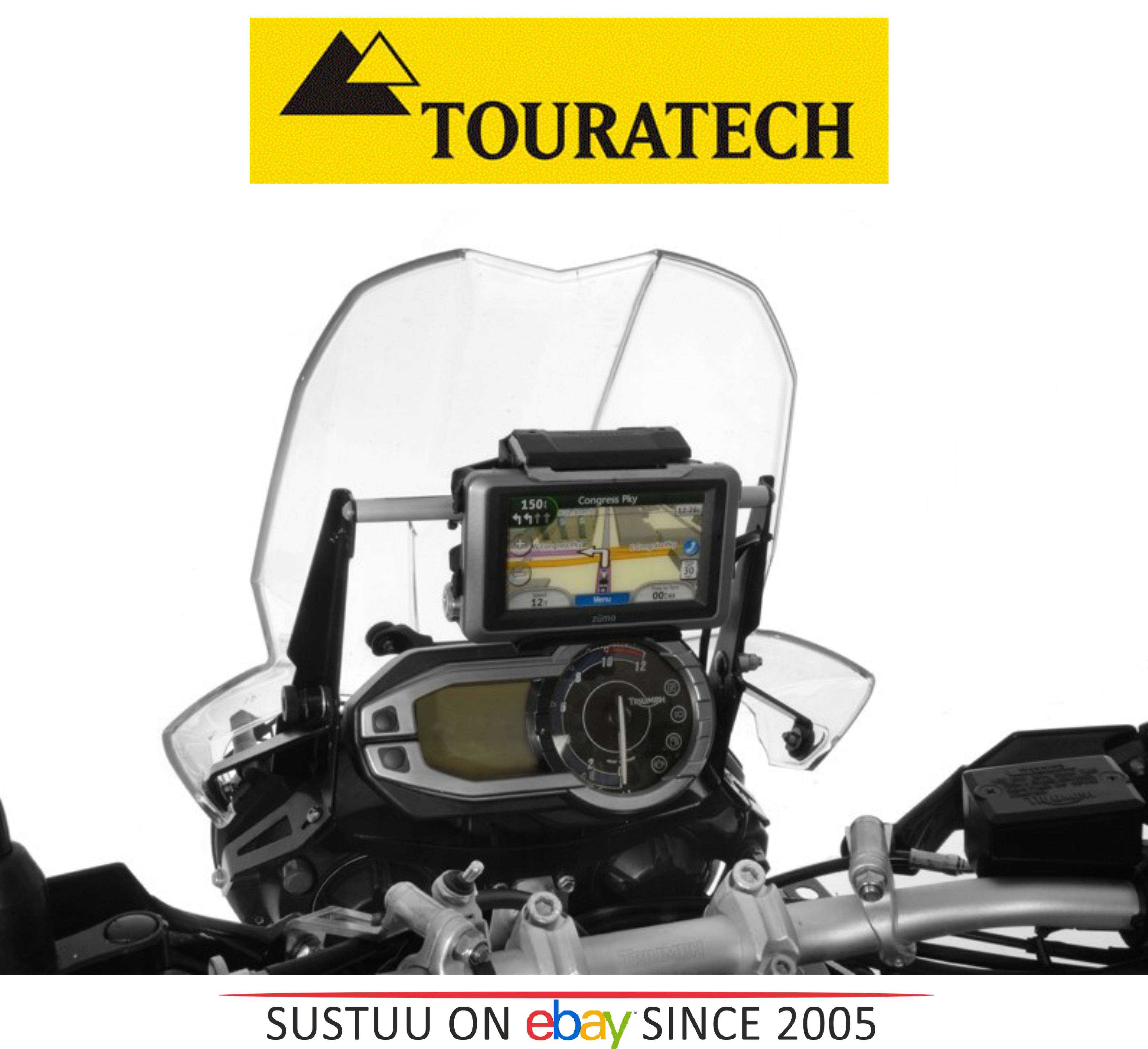 Touratech Adaptor Triumph Tiger 800xc Gps Winwindscreen Adjuster