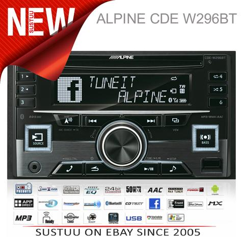Alpine In Car Stereo-CD Receiver?2DIN?RDS?Bluetooth?USB?Aux?iPod-iPhone-Android Thumbnail 1
