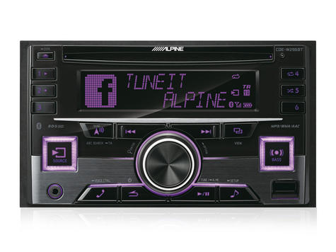 Alpine In Car Stereo-CD Receiver?2DIN?RDS?Bluetooth?USB?Aux?iPod-iPhone-Android Thumbnail 4