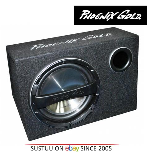 """Phoenix Gold Z112AB 12"""" Active Subwoofer 320Watts With Remote Bass Controller Thumbnail 1"""