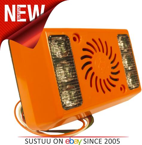 AMBER VALLEY Alarm Light Vehicle Side Minder WARNING With Orange LED 1yrWARRANTY Thumbnail 2