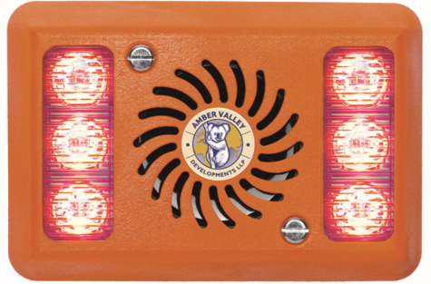 NEW Amber Valley AVAL280R Spoken Reverse Alarm With Red LED Warning System Thumbnail 1
