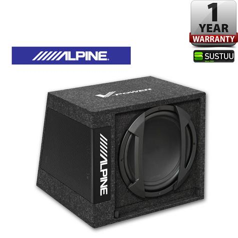 "Alpine SWD 355 Subwoofer Combined With Digital V-POWER Mono Amplifier12"" 650W  Thumbnail 1"