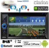 """Clarion NX505E 6.1"""" Double Din DVD Multimedia Station GPS Navigation/Usb/Aux in"""