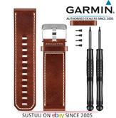 Garmin Fenix 3 Quatix Tactix Brown Leather Wrist Watch Band Strap 010-12168-12