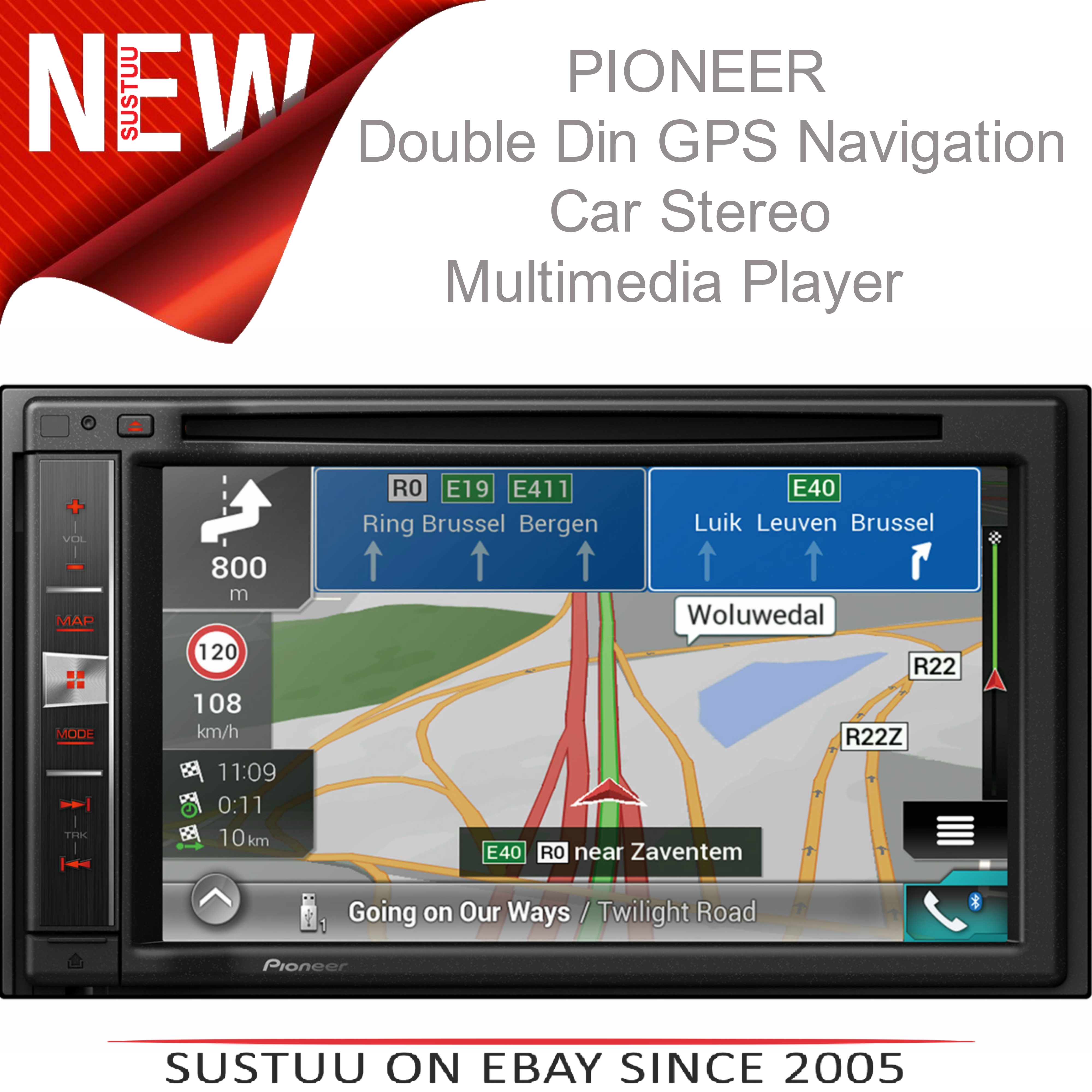 pioneer avic f980bt 6 2 2 din bluetooth cd apple carplay gps navigation stereo sustuu. Black Bedroom Furniture Sets. Home Design Ideas
