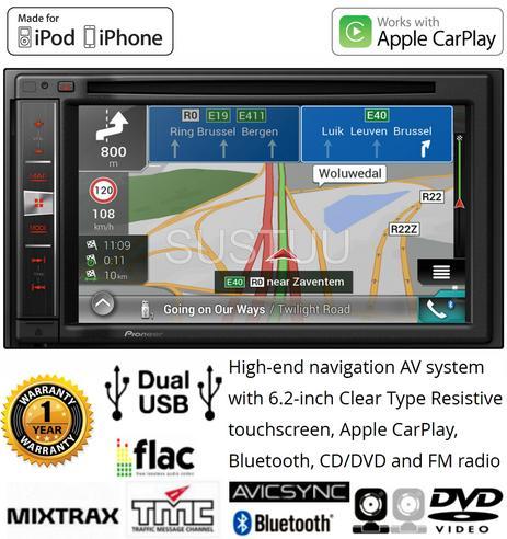 "Pioneer AVIC-F980BT|6.2"" 2-Din Bluetooth|CD|Apple CarPlay|GPS Navigation|Stereo Thumbnail 3"