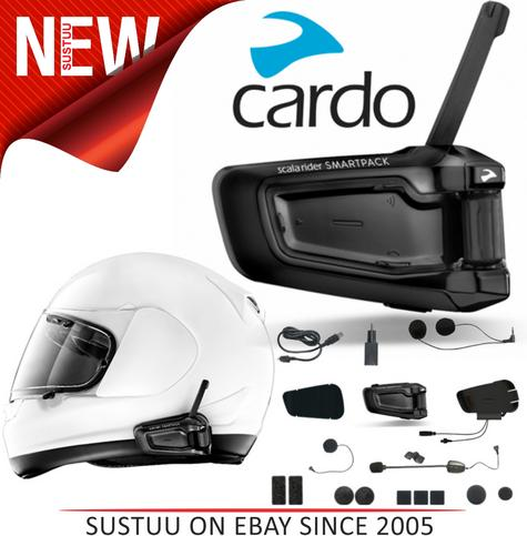 NEW Cardo Scala Rider Smartpack Solo BTSRP Motorcycle Helmet Bluetooth Intercom  Thumbnail 1