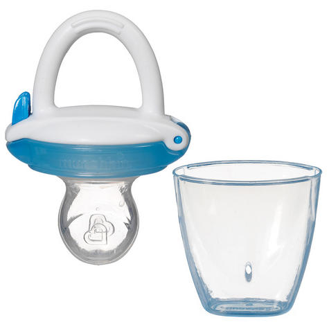 Munchkin Safe Easy On The Go Baby Food Silicone PureeTravel Feeder With Cap +4m Thumbnail 5