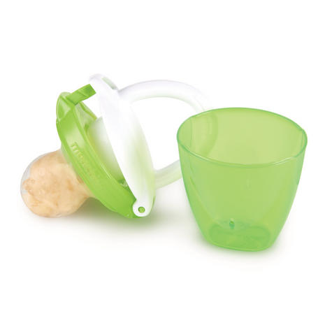 Munchkin Safe Easy On The Go Baby Food Silicone PureeTravel Feeder With Cap +4m Thumbnail 8