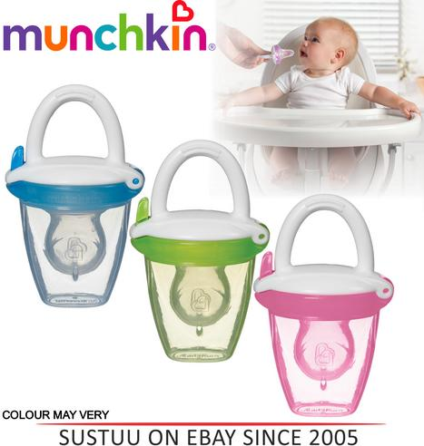 Munchkin Safe Easy On The Go Baby Food Silicone PureeTravel Feeder With Cap +4m Thumbnail 1