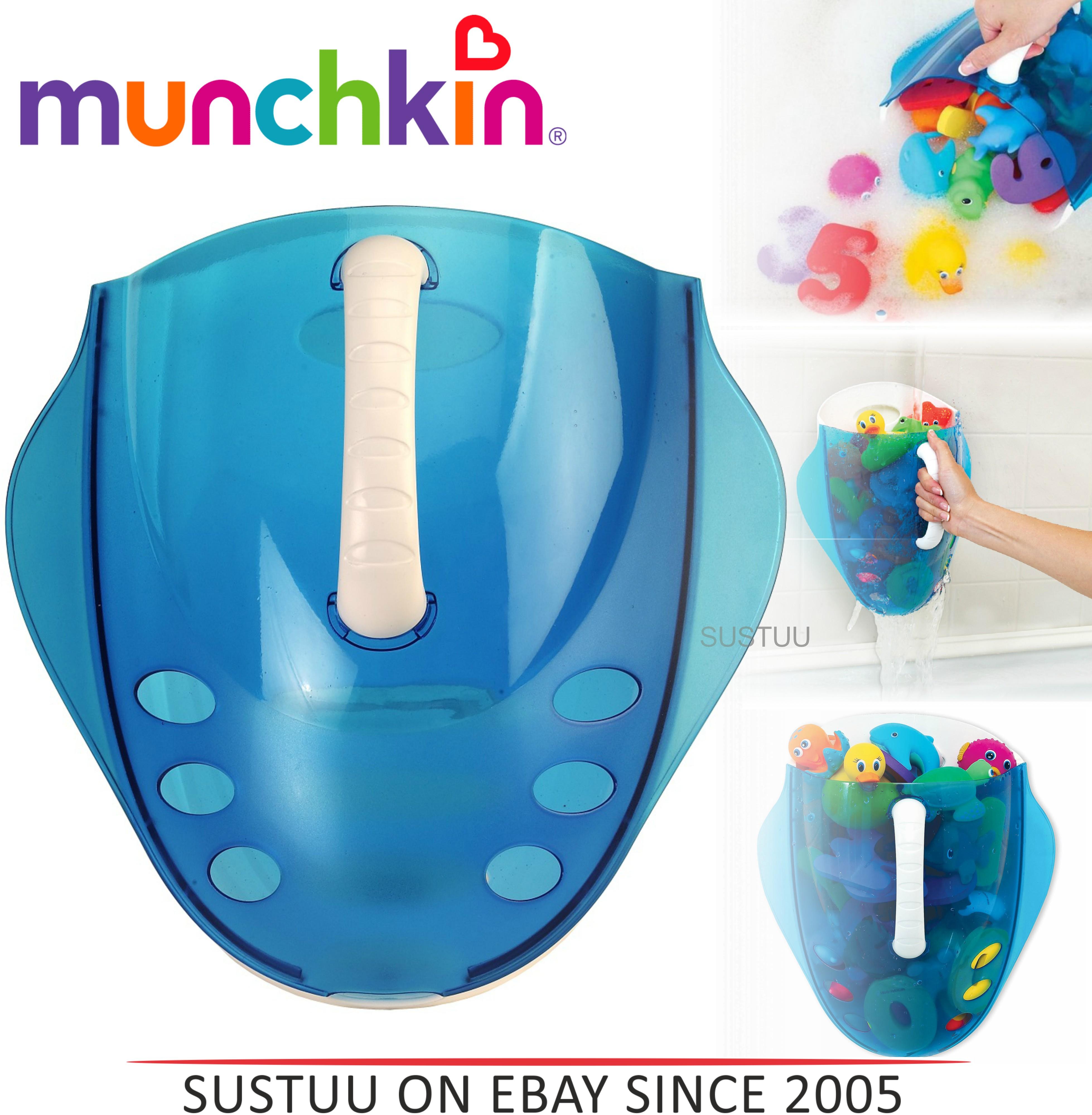 Munchkin Kids Bath Toy Drain+Storage Scoop | Wall Mount/Hanging Bathtime Organiser