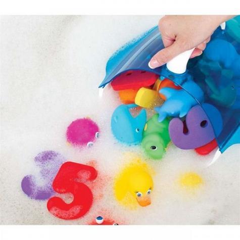 Munchkin Kids Bath Toy Drain+Storage Scoop | Wall Mount/Hanging Bathtime Organiser Thumbnail 5
