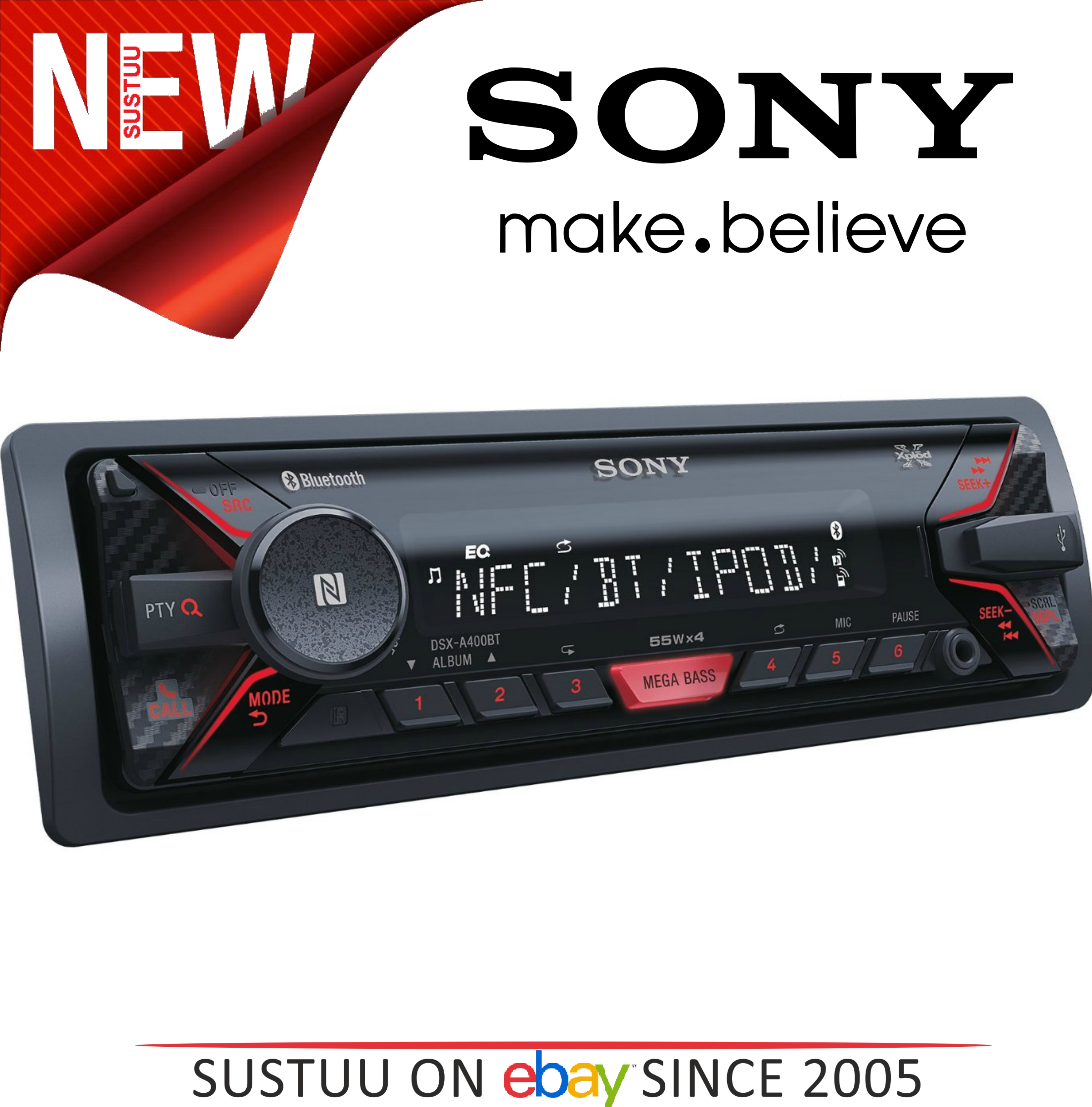 Sony DSX-A400BT Mechless In Car Stereo