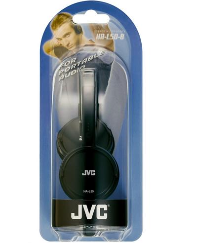 JVC HA-L50 Foldable Light Weight Stereo Headphone|Smartphone|Tablet|PC|Black| Thumbnail 5