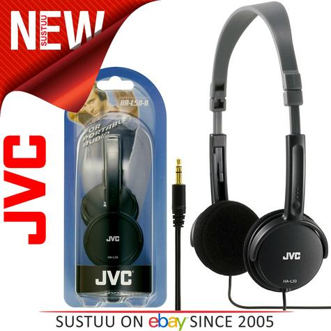 JVC HA-L50 Foldable Light Weight Stereo Headphone|Smartphone|Tablet|PC|Black| Thumbnail 1