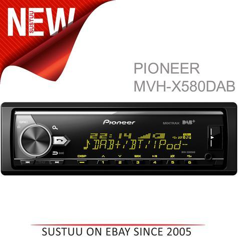 Pioneer MVH X580DAB Car Stereo|DAB+|AM/FM|Bluetooth|USB|Aux|*iPod-iPhone-Android Thumbnail 1