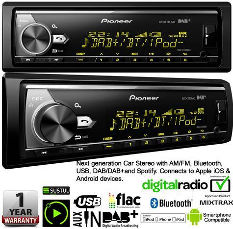 Pioneer MVH X580DAB Car Stereo|DAB+|AM/FM|Bluetooth|USB|Aux|*iPod-iPhone-Android Thumbnail 4