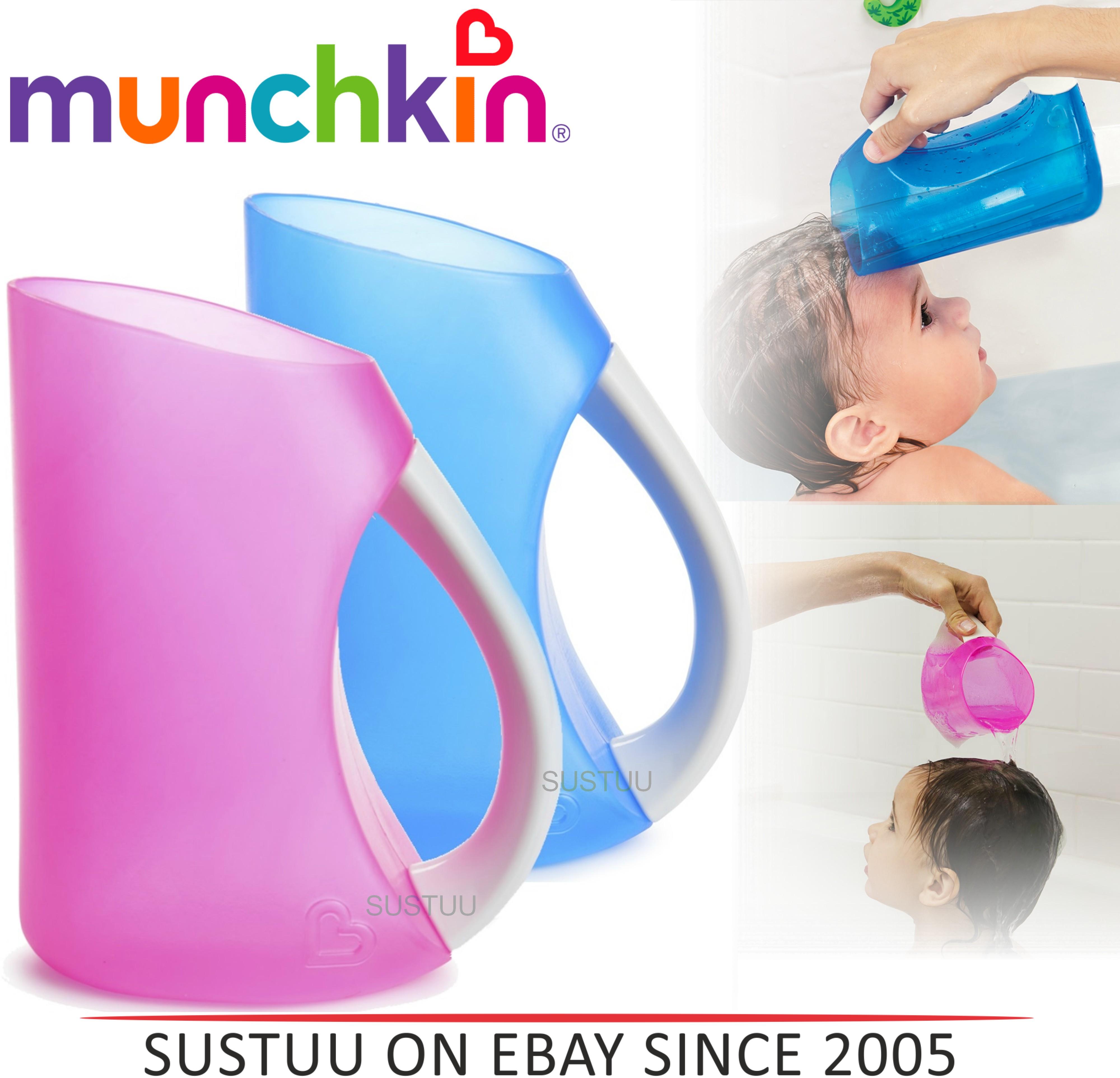 Munchkin Shampoo Hair Rinser Baby Soft Flexi Rim Tear-free Bath Time Toddler Jug