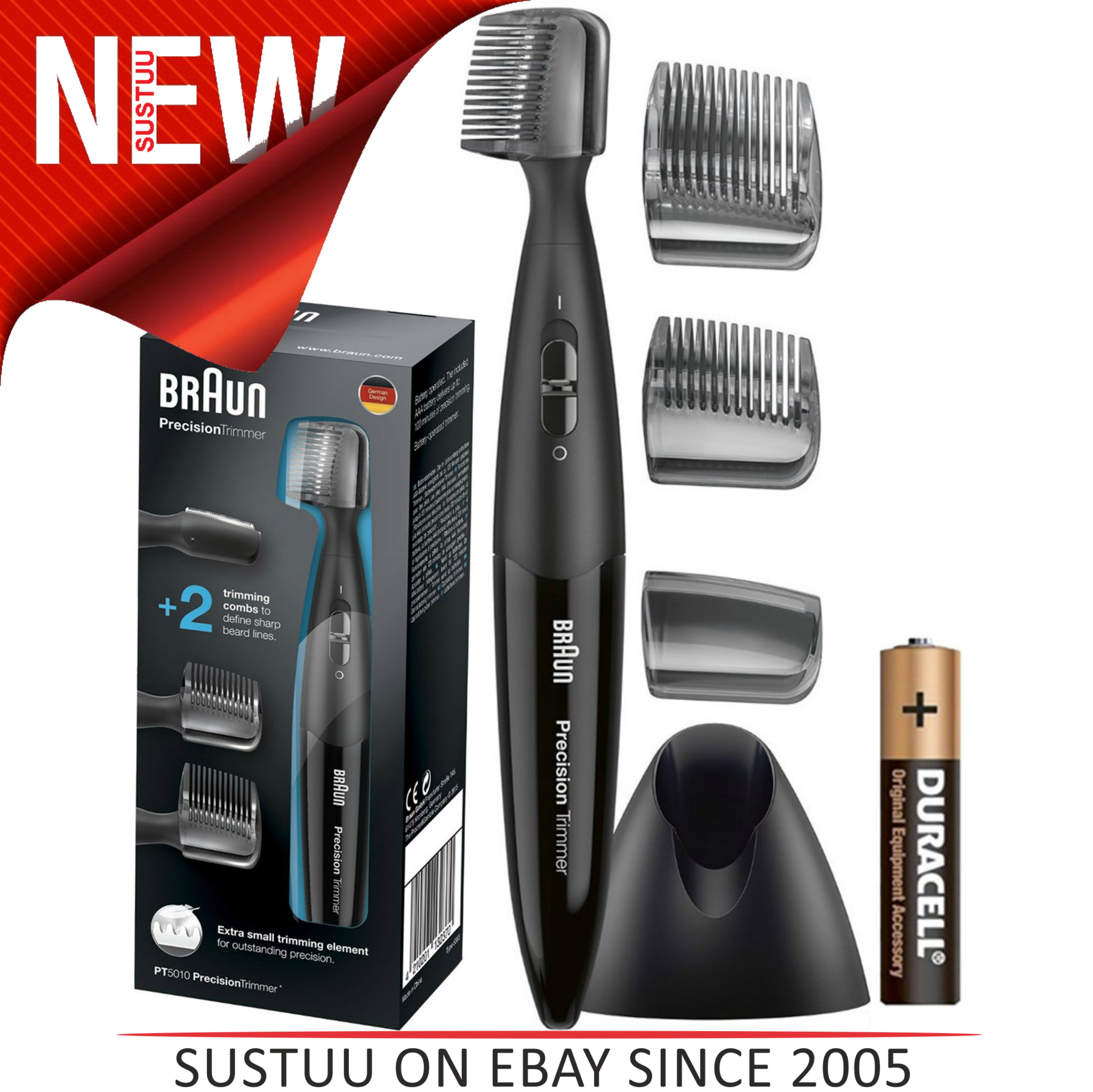 Braun|PT5010|Men's|Facial Hair|Precision|Washable Head|Trimmer 5/8mm Styler|NEW