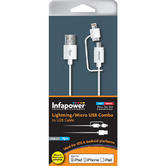 Infapower Apple Lightning & Android Micro USB Combo Cable USB 2.0 P026