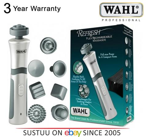 Wahl Flex Rechargeable Hand Helf Full Body Massager with 7 Attachments 4294-027 Thumbnail 1