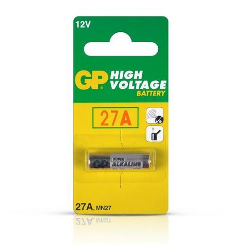Value Range GP27A 12V Alkaline High Power Battery 27A Thumbnail 1