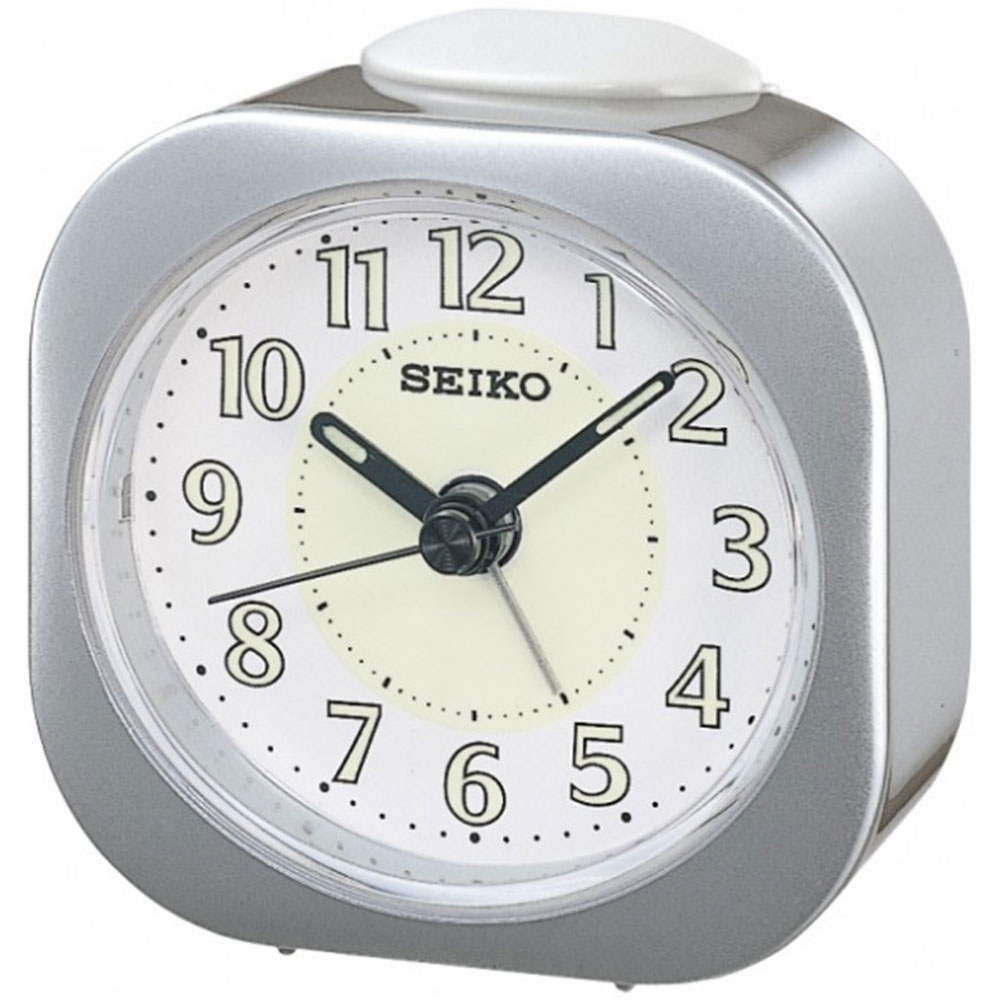 Seiko Luminious Alarm Clock - Silver Analog QHE121S