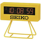 Seiko Countdown Style Sports Timing Clock - Yellow Analog QHL062Y
